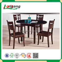 Modern new design high quality wooden furniture KD pine wood dining table set/teak wooden dining table and chair/diningroom set