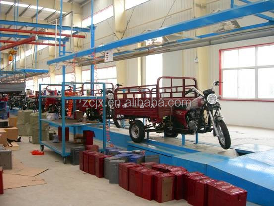 assembly line for electric vehicles motorcycle and tricycles