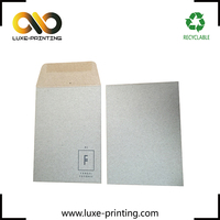 Eco-friendly gummed envelopes square recycled kraft paper seed envelopes