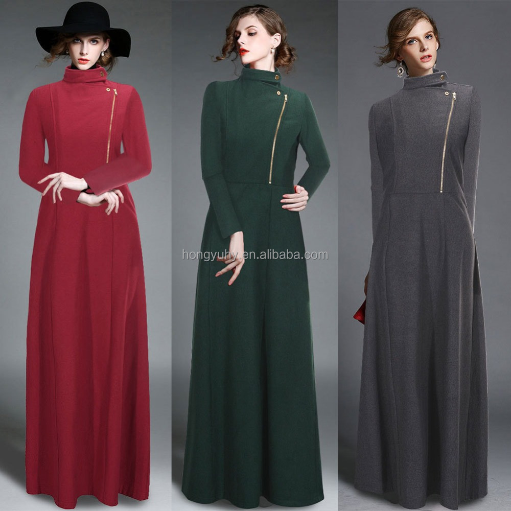 Floor Length Coat Womens Winter Jackets And Coats Extra Long Bohemia Retro Trench Wool Cashmere Coat Manteau Femme