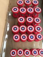 Free Weight PU Coated Captain American Dumbbell, Dumbbell For Wholesale Crossfit ,Weight lifting Dumbbell