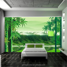 classic pattern leaf design fashionable natural bamboo wallpaper