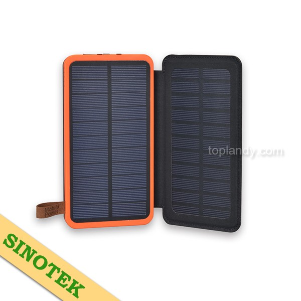 SINOTEK durable 2.6w folding portable solar panel universal power bank charger 20000mah