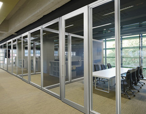 Factory price Aluminum Frame Double Glass Office Partition Wall Glass Office Partitions