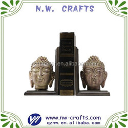 Resin buddha head bookends polyresin desk decoration statue