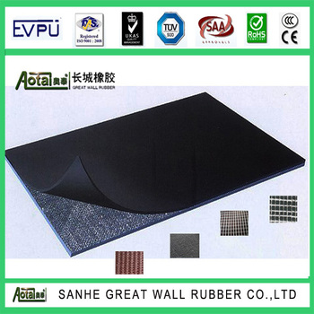 SBR CR NBR EPDM Rubber Sheet ruber sheet Fabric impression mat insertion mat