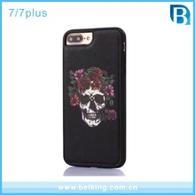 For iPhone 6 Case TPU Butterfly , 3D Printing Skull Cell Phone Case for iPhone 7
