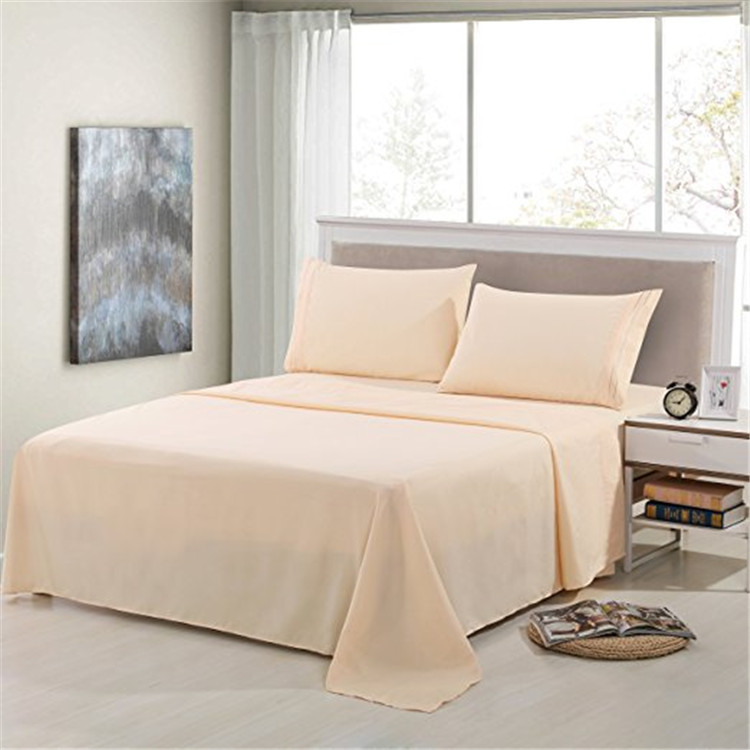 Bed Sheet Set - Hotel bamboo bedding set custom duvet cover set 4pcs bed sheet set