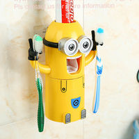 Novelty minions automatic toothpaste dispenser return gifts for birthday kids