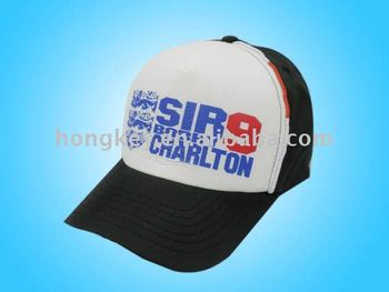 5 panel 100% polyester baseball cap for promotional