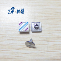 9.5mm custom matal Square jeans rivet button in high quality