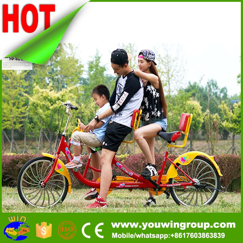 2 seater used surrey bikes tandem tricycle for adults, tandem bicycle,3 tandem bike for sale