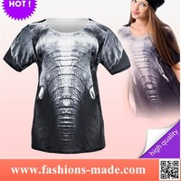 New Girls Elephant Printed T-Shirts