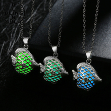 >>>New Fashion Glowing Pendant Fluorescent Powder Stone Necklace glow in the dark necklace Hollow Luminous necklace/