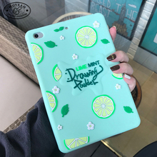 Rubber Silicone Strawberry Lemon Design Covers Cases for Ipad
