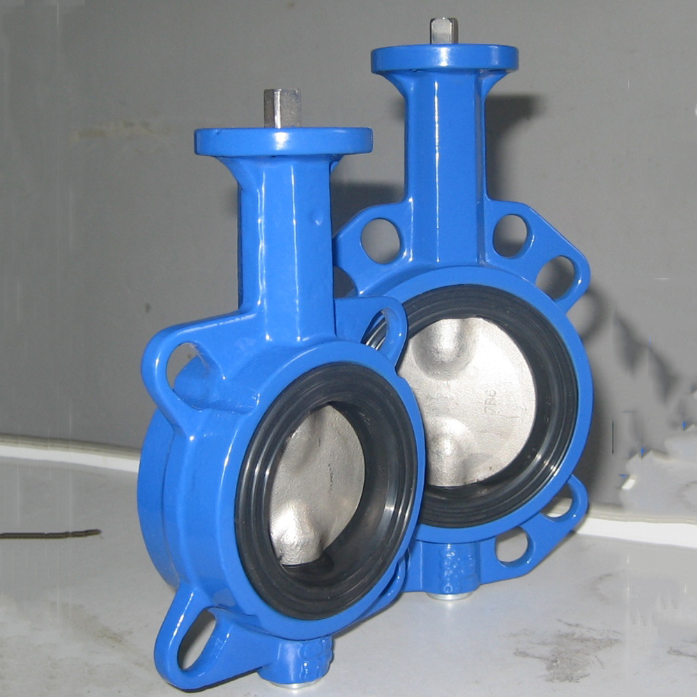 wafer connection bare shaft butterfly valve with ss304 disc