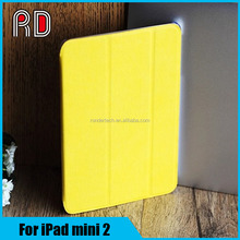 New Slim Stand Magnetic Leather Case Wood Grain Cover For iPad mini 2