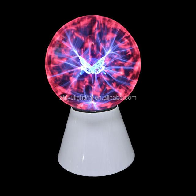 High-quality Glass Plasma Ball Sphere Usb+vehicle-mounted+audio Control+gift Box Lightning Light Lamp Party