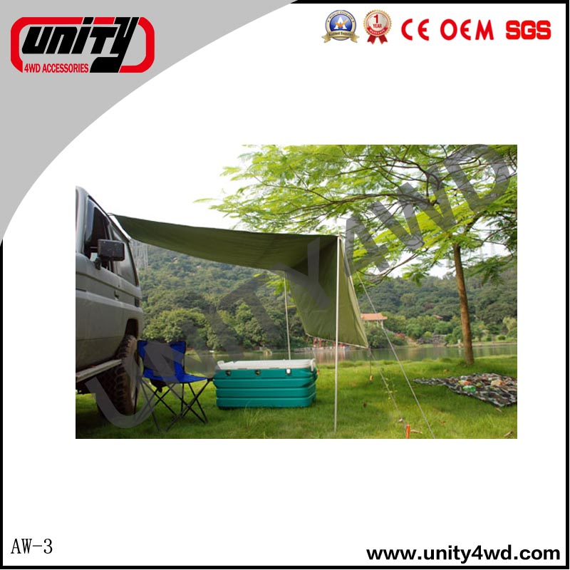 China 4x4 manufacturer car roof top tent /car side 4x4 awning for Toyota LC70