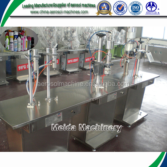 semiautomatic aerosol can filling machine for spray pesticide
