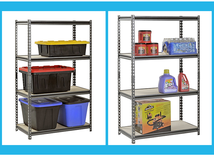 Light duty galvanized steel 4 tiers ajustable tire shelving