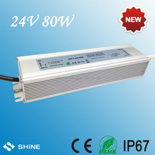 High quality 220vac to 12vdc 24v led light transformers, 24v 12v switching power supply 80w, led driver with 3 years warranty