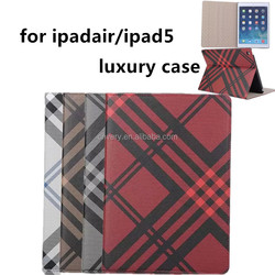 fashion grid cover for ipad air 9.7 inch ipad case for apple ipad tablet leather case