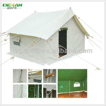 2015 New design house shaped canvas camping tent for sale
