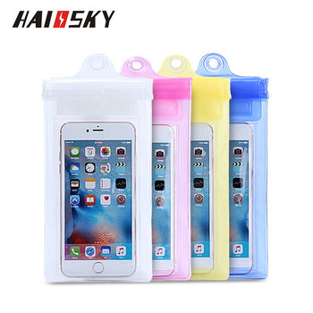 HAISSKY waterproof cell phone bag small pvc bag waterproof Waterproof Bag for iphone X, 8PLUS, 7 PLUS
