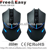 2014 led eyes gaming mouse with blue led