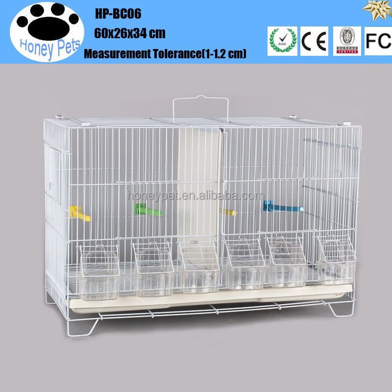 Whosale good quality HP-BC05 pet cages with dividers bird breeding cage wire