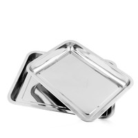 Large capacity Multifunction stainless steel square steamer tray deep baking food tray rectangular tray