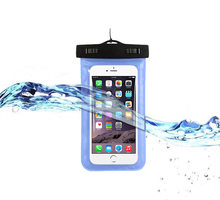 Beach Swimming Sealed Submersible Waterproof Mobile Phone Pouch Case Bags For iPhone 6 7
