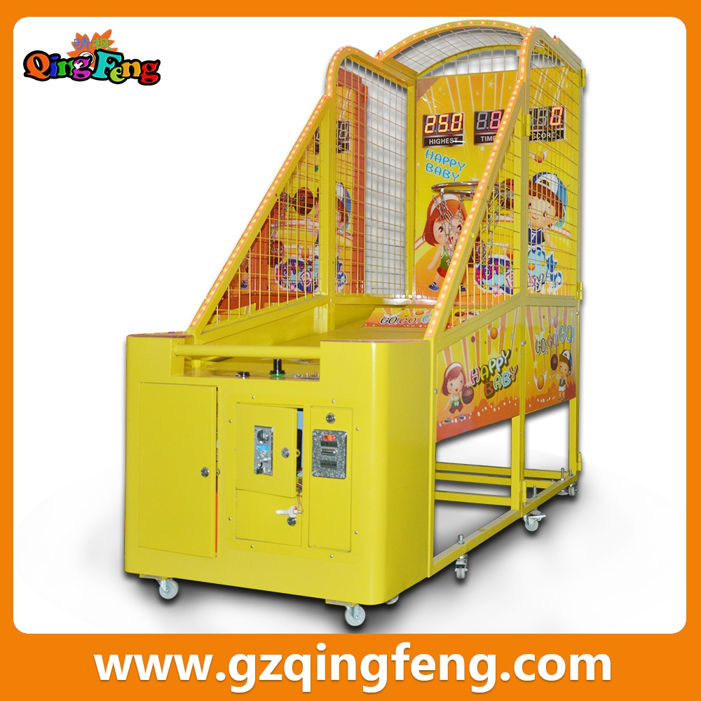 Qingfeng hottest indoor games for malls win prize redemption basketball games arcade machine