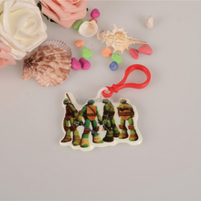 Wholesale unique keyring/the Teenage Mutant Ninja Turtles inflatable trinket keyring/promotional 2D keyring