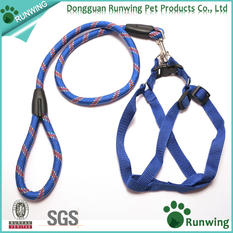 Dog Leash Harness, Adjustable and Heavy Duty Top Quality Leash Collar for Large/Medium/Small/Extra-Small Pet Training