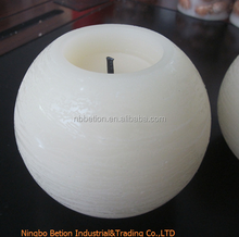 round ball shaped flamleless candles yellower flicking wax candle