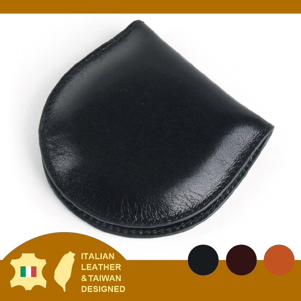 Harmonious colors Italian Vegetable Tanned Genuine Leather coin purse
