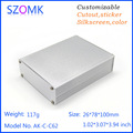 Custom extruded aluminum heat sink enclosure for electronics