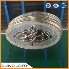 Decorative Door Glass Oval , Oval Stained-glass Windows