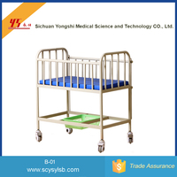 Wholesale Movable Steel Medical New born Baby Bed Crib for sale