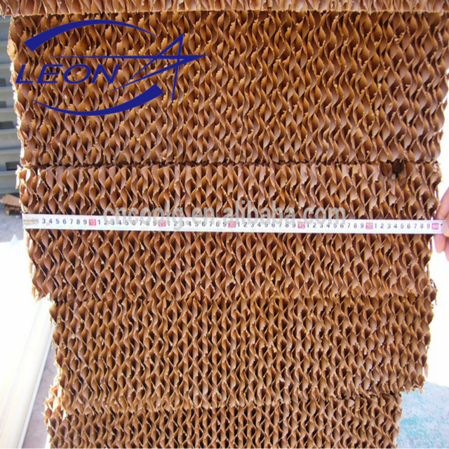 corrugated cellulose evaporative cooling pad