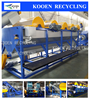 Kooen PE pp film washing line plastic bags recycling machine