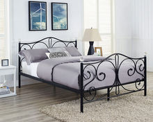 European design factory price metal bed frame crystal metal single/double bed