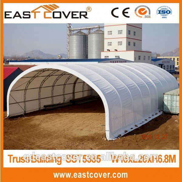 2016 outdoor steel frame big curved industrial storage tents for sale