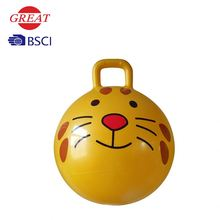 18 inch space jumping ball with handle/hopper ball with handle