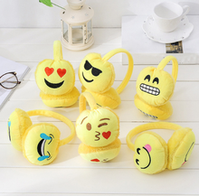 Women Winter Plush Emoji Headband Earmuffs Fashion Emoticon Ear Warmer Earlap For Female Girls