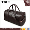 Multifuncation famous brand fashion leather travel bags for men