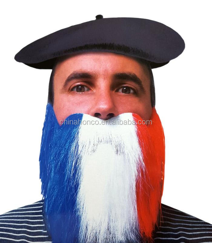 WM 2018 Frech color artificial beard france mustache