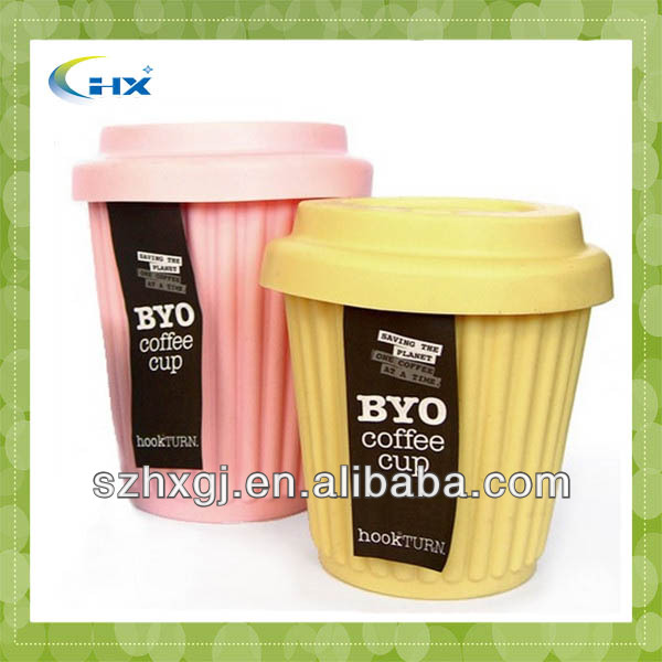 New Product Funny Design Silicone Reusable Coffee Cup With Lid
